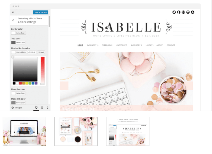 Isabelle - From Pennies to Pounds blog theme