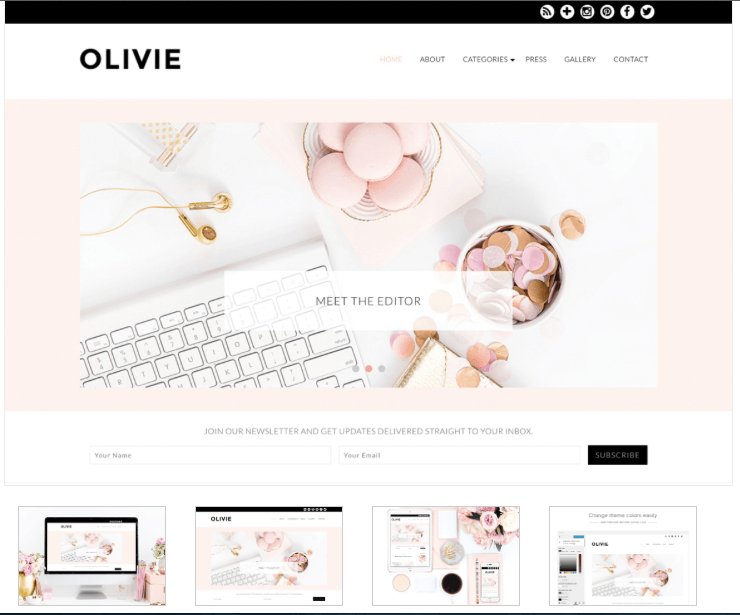Olivie theme blog from pennies to pounds