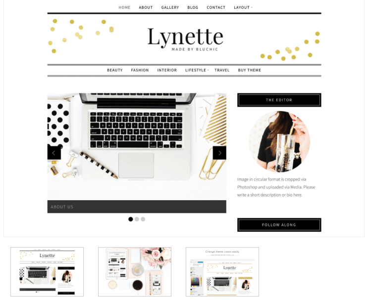 Lynette blog theme - From Pennies to Pounds