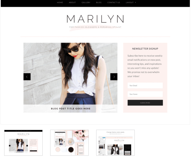 Fashion blogger theme - From Pennies to Pounds