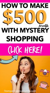 Mystery shopper jobs money saving expert