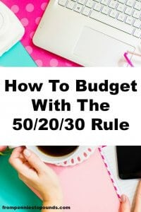 how to budget 50:20:30 rule