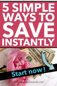 5 ways to save money now